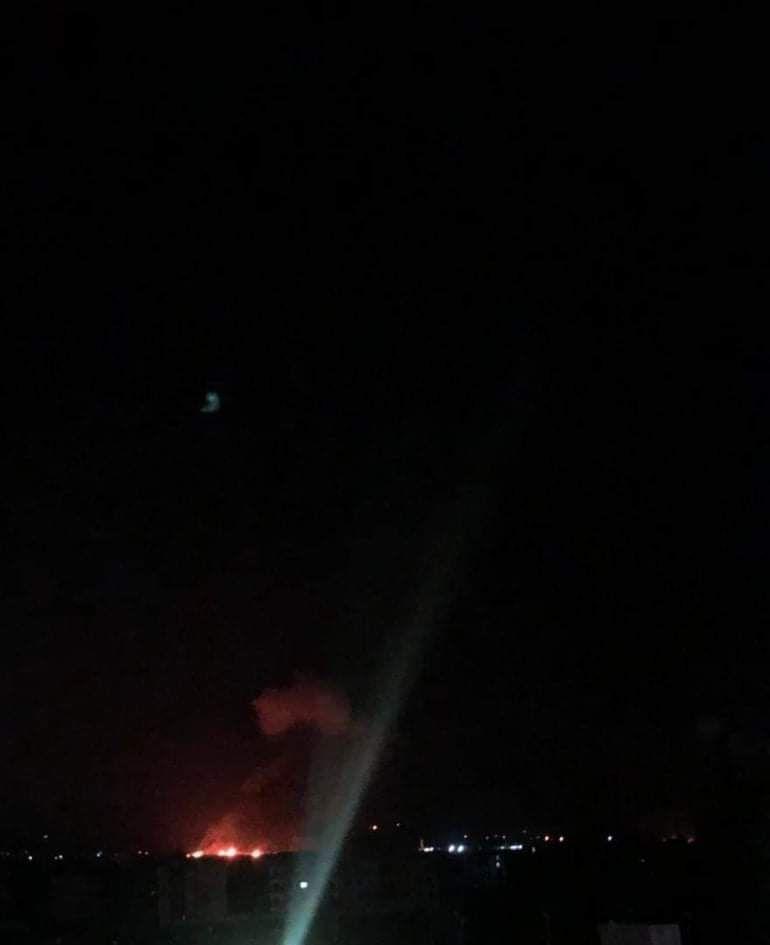 القصف الإسرائيلي استهدف مواقع عسكرية في محيط العاصمة دمشق