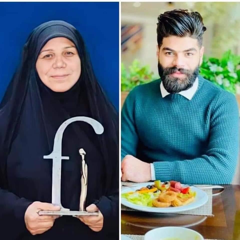 الناشط علي كريم هو نجل الناشطة العراقية فاطمة البهادلي التي فقدت ابنها الأول في عام 2019